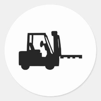 Forklift Classic Round Sticker