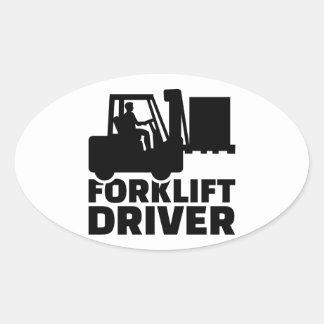 Forklift driver oval sticker
