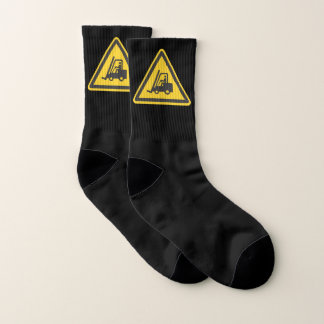 Forklift Operator Driver Fun Caution Novelty Cozy Socks