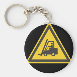 Forklift Operator Driver Fun Warehouse Caution Keychain