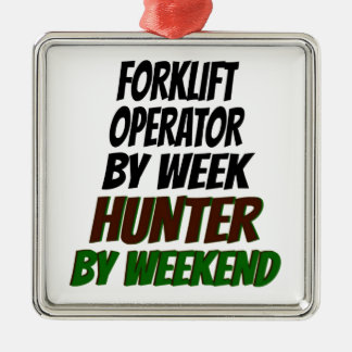 Forklift Operator Hunter Metal Ornament