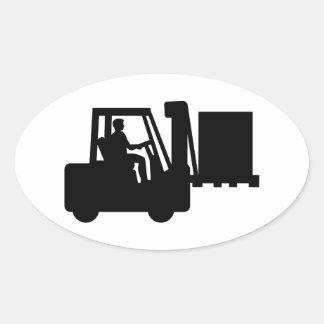 Forklift Oval Sticker