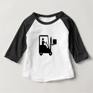 Forklift Silhouette Baby T-Shirt