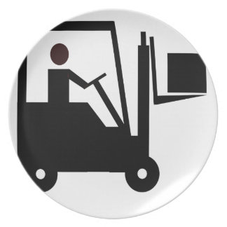 Forklift Silhouette Plate