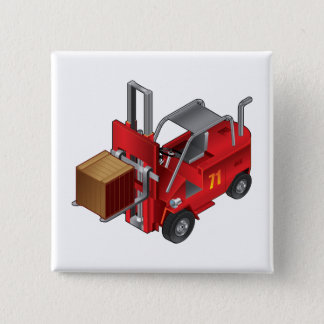 Forklift Truck 2 Inch Square Button
