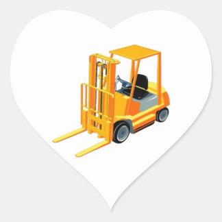 Forklift Truck (a.k.a. Lift Truck/Fork Truck) Heart Sticker