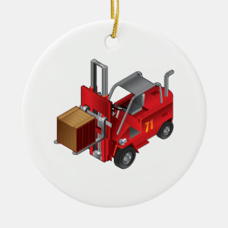 Forklift Truck Ceramic Ornament