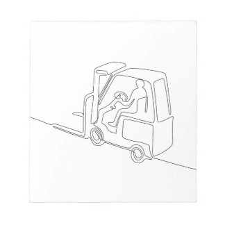 Forklift Truck Continuous Line Notepad