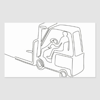 Forklift Truck Continuous Line Sticker