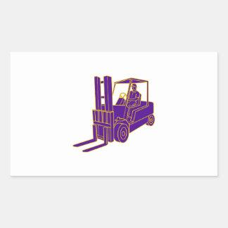 Forklift Truck Mono Line Sticker