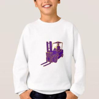 Forklift Truck Mono Line Sweatshirt