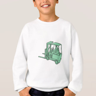 Forklift Truck Operator Mono Line Sweatshirt