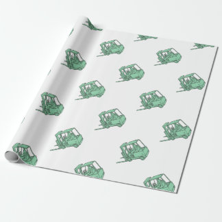Forklift Truck Operator Mono Line Wrapping Paper