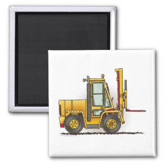 Forklift Truck Square Magnet