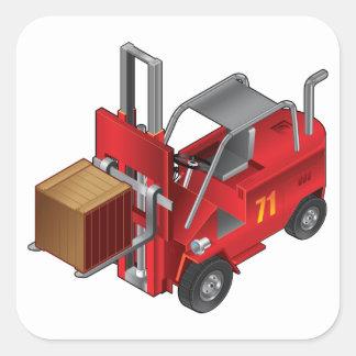 Forklift Truck Square Sticker