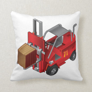 Forklift Truck Throw Pillow
