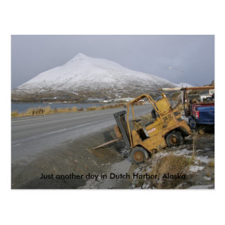 Forklift with Parking Issues in Dutch Harbor Postcard