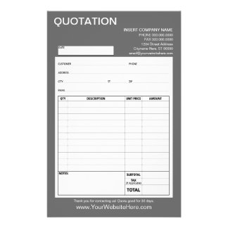 Form - Business Quotation or Invoice Custom Flyer