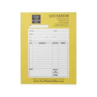 Form - Business Quotation or Invoice Memo Notepads
