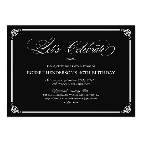 Formal birthday invitations zazzle formal birthday invitations stopboris Image collections