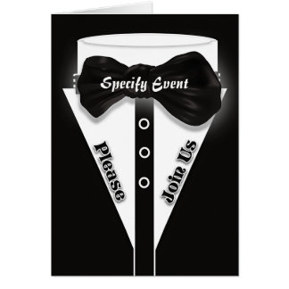 Formal black tie stylish | Personalize Card