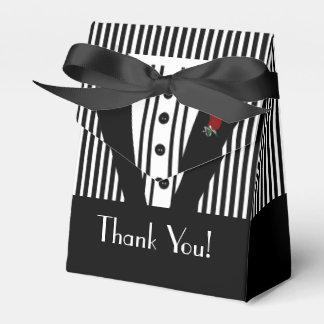 Formal Black Tuxedo Thank You Favor Box
