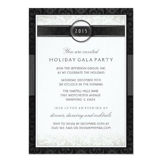 Formal Black & White Company Event Invitation