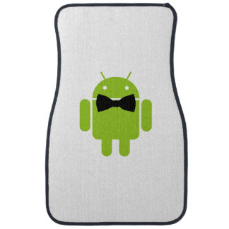 Formal Bow Tie Android Robot Icon Car Floor Carpet