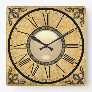 """Formal Classic"" Square Wall Clock"