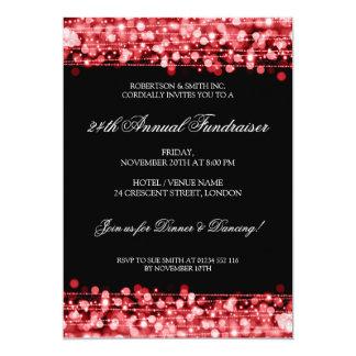 Formal Corporate Fundraiser Party Sparkles Red Card