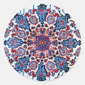Formal Design in Red and Blue Round Sticker