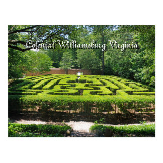 Formal Gardens Williamsburg VA Postcard