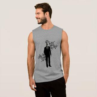 Formal giraffe sleeveless shirt