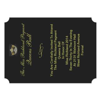 Formal Gold Crown Invitation