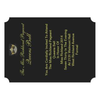 Formal Gold Crown Invitation II