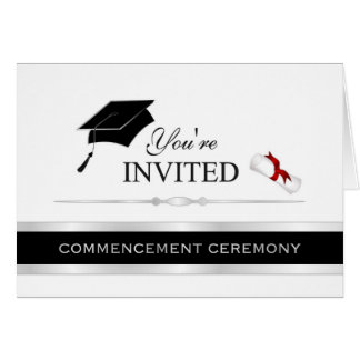 Formal Graduation Commencement Invitations