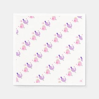 Formal Love Birds Paper Napkin