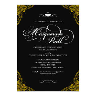 Formal Masquerade Ball Invitations