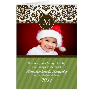 Formal Monogram Christmas Card