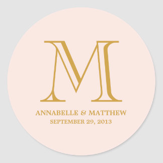 Formal Monogram Wedding Favor Label