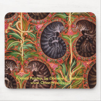 Formal Paisles, Formal Paisley, by Darlene P. C... Mouse Pad