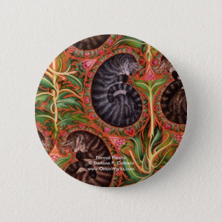 Formal Paisles, Formal Paisley Darlene P. Colt... 2 Inch Round Button