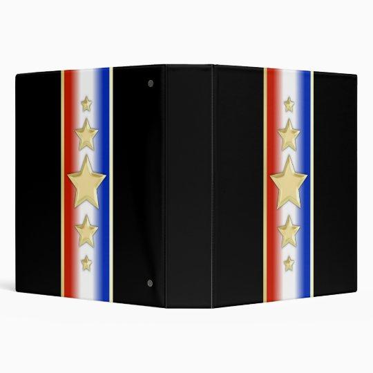 Formal Patriotic Stars Vinyl Binder