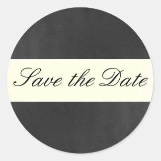 Formal Save the Date Sticker/Seal Round Sticker