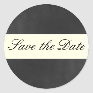 Formal Save the Date Sticker/Seal Classic Round Sticker
