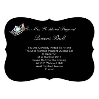 Formal Silver Crown Invitation IV-Autograph Back