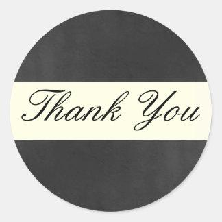 Formal Thank You Sticker/Seal Round Sticker