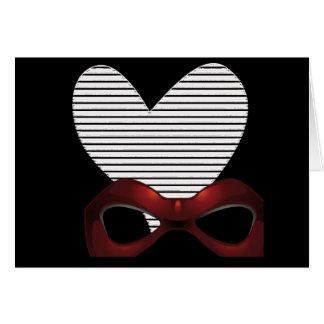 Formal Tuxedo Heart in Black Birthday -Note Card
