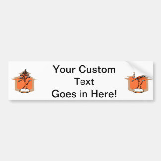 Formal Upright With House Snow Bonsai Graphic Car Bumper Sticker