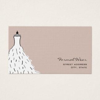 Formal Wear Boutique - Feathery Wedding Dress Business Card